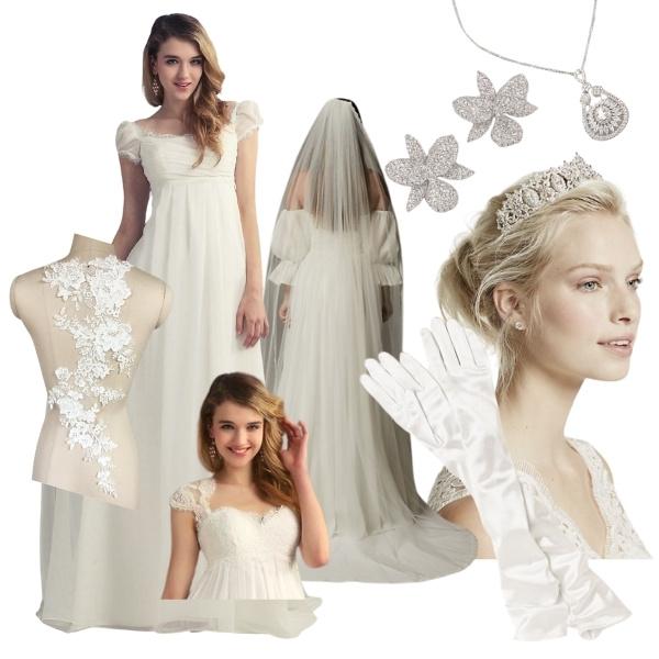 Bridgerton Inspired Wedding Style - daphne bridgerton fashion