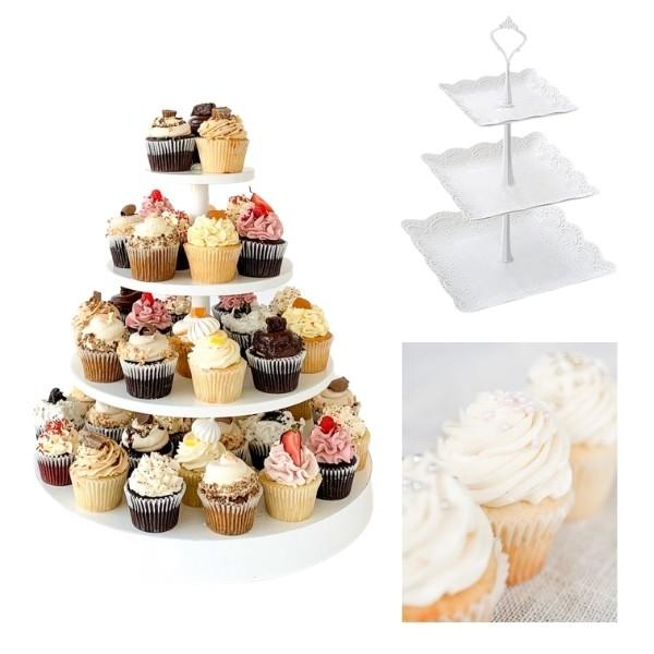 Bridgerton Inspired Wedding Style - cupcake tower
