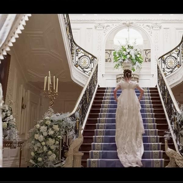 Bridgerton Inspired Wedding Style - staircase