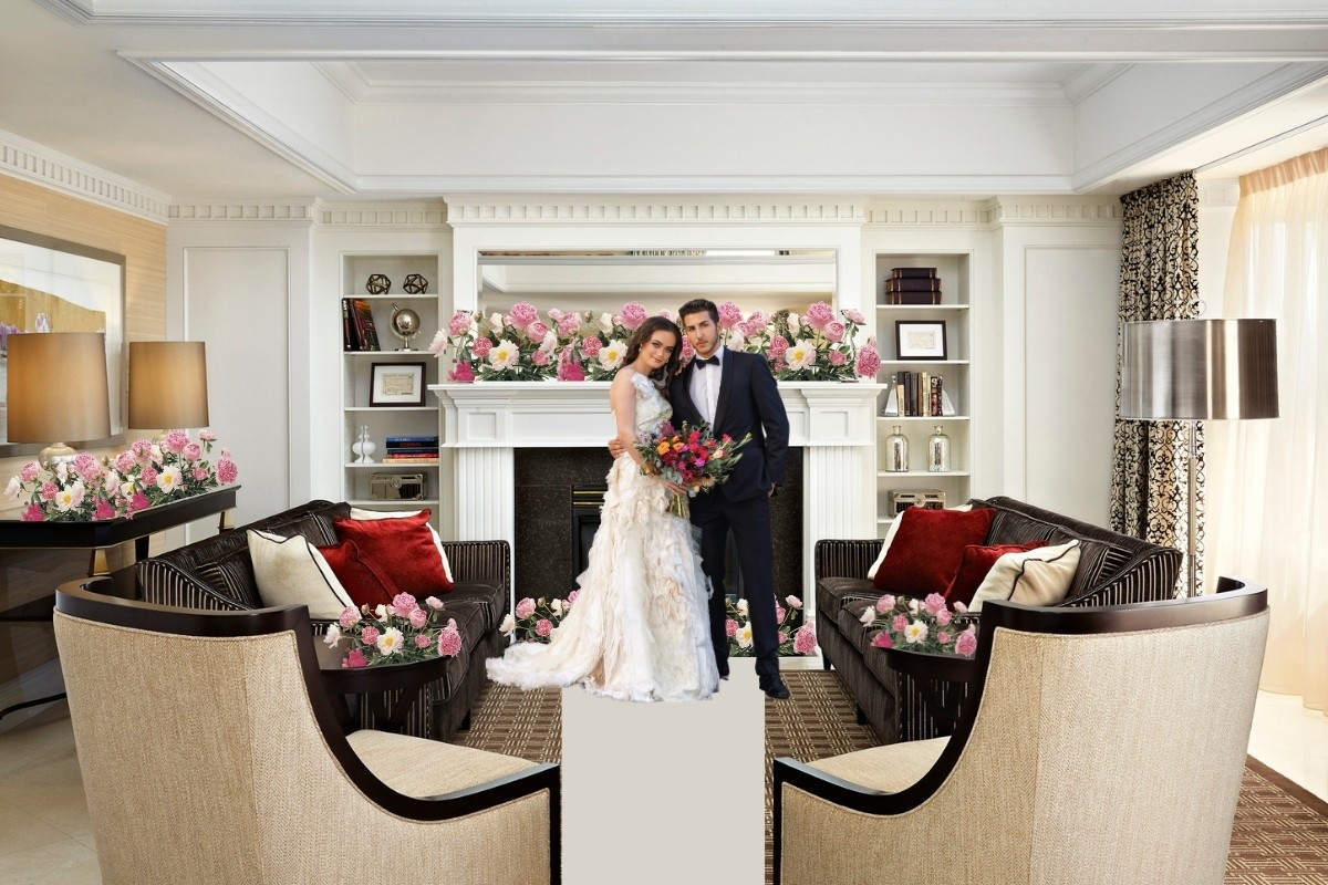 How to Plan an Elopement during a pandemic - living room ceremony