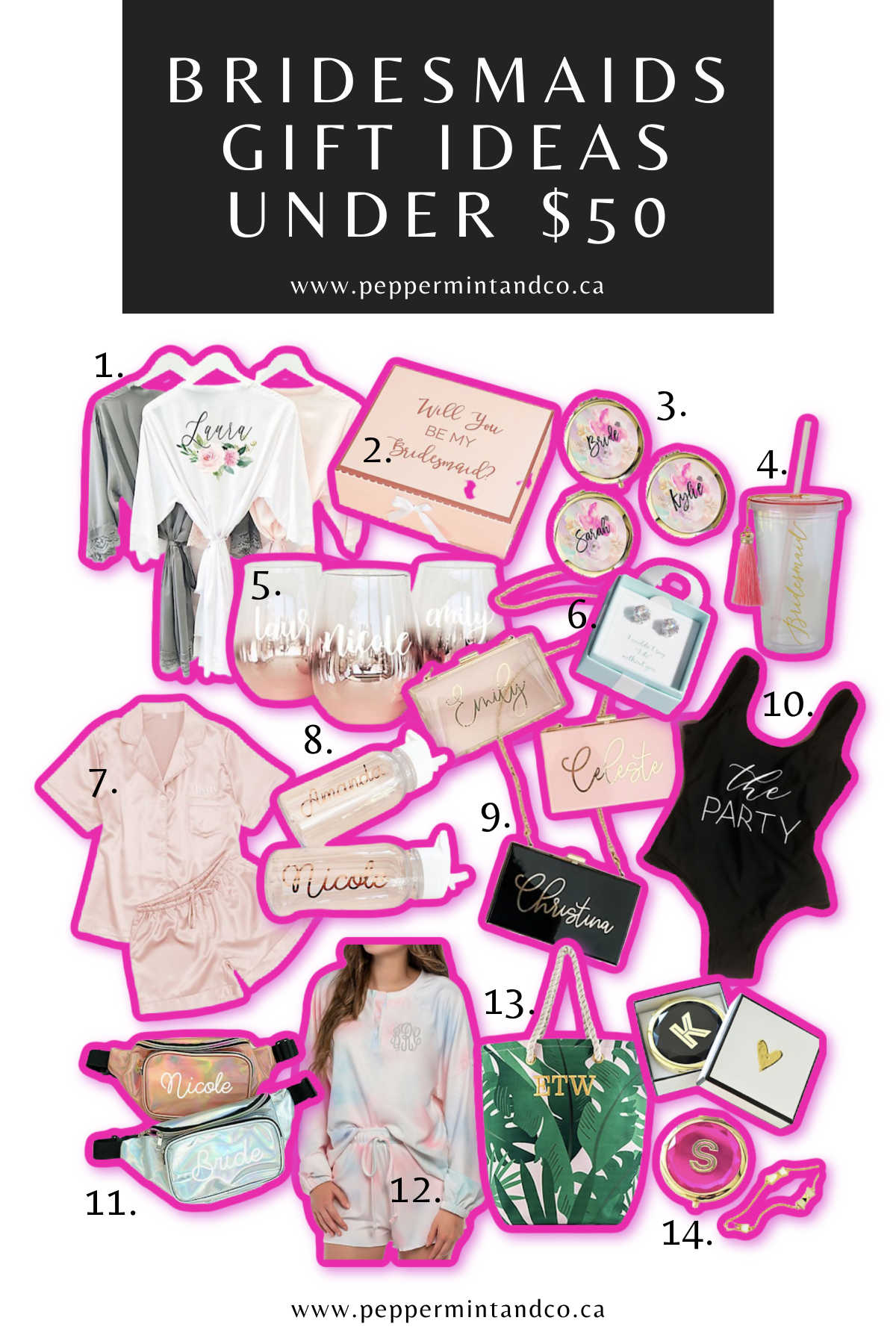 Bridesmaids Gift Ideas Under $50