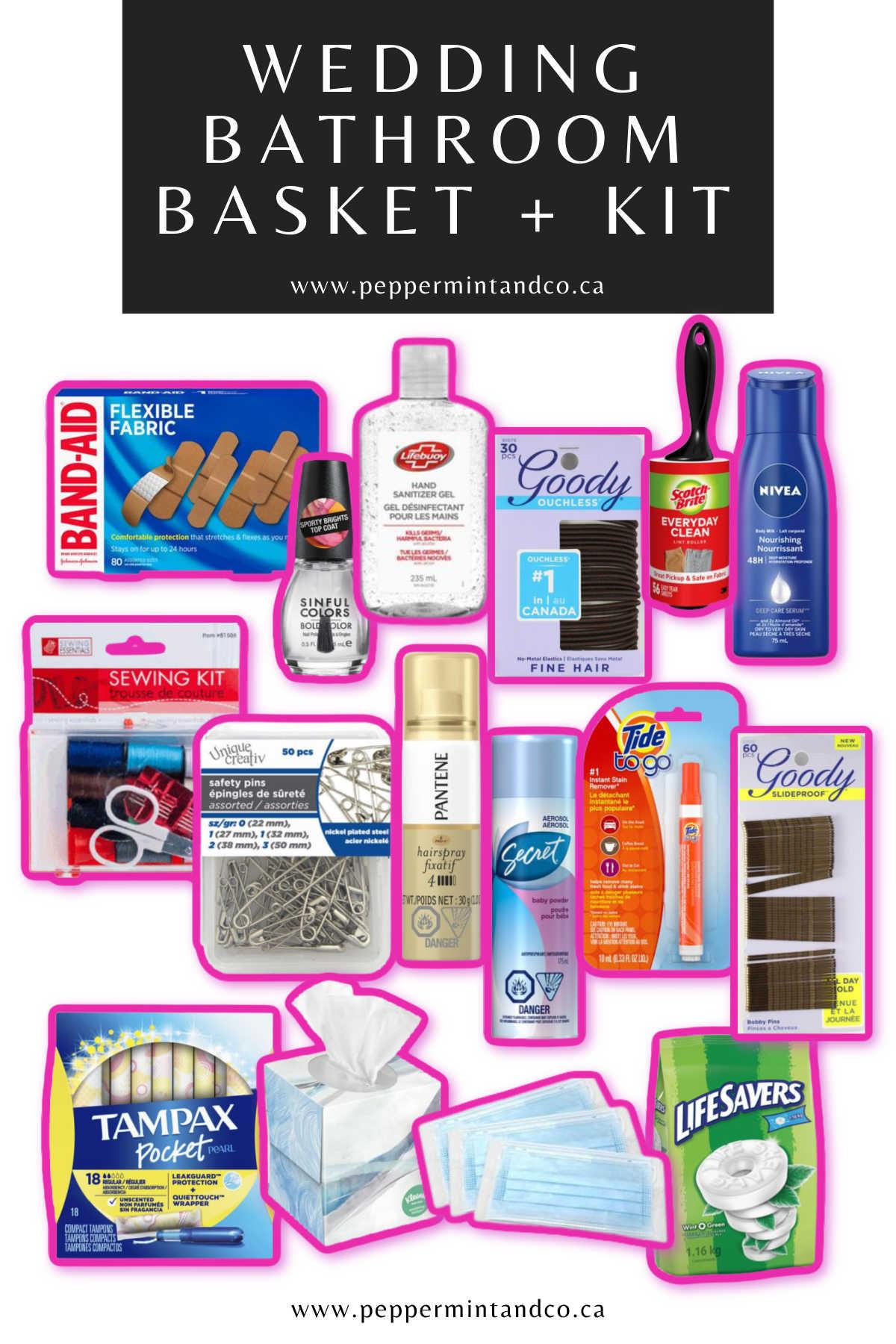 Wedding Bathroom Basket + Kit Guide