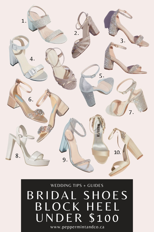 Wedding Shoes: Block Heels Under $100