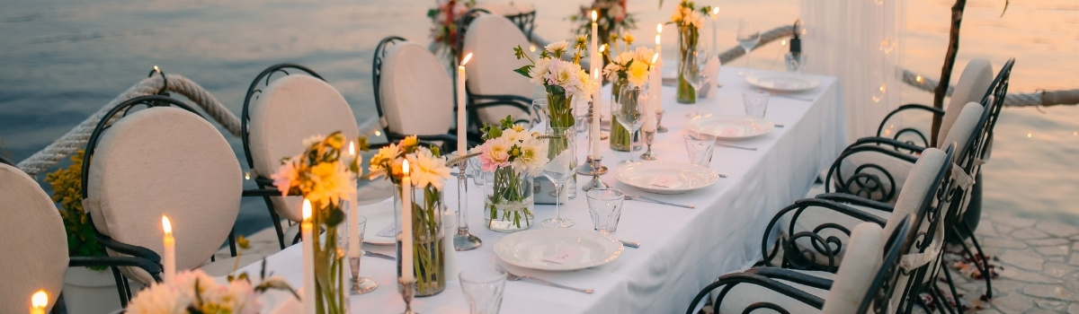 Wedding Planning Timeline- reception table