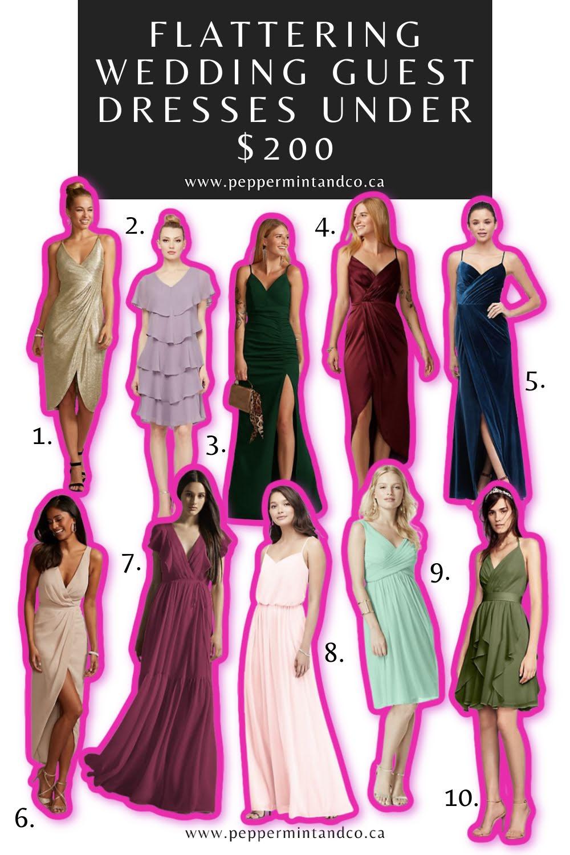 Flattering Wedding Guest Dresses Under $200