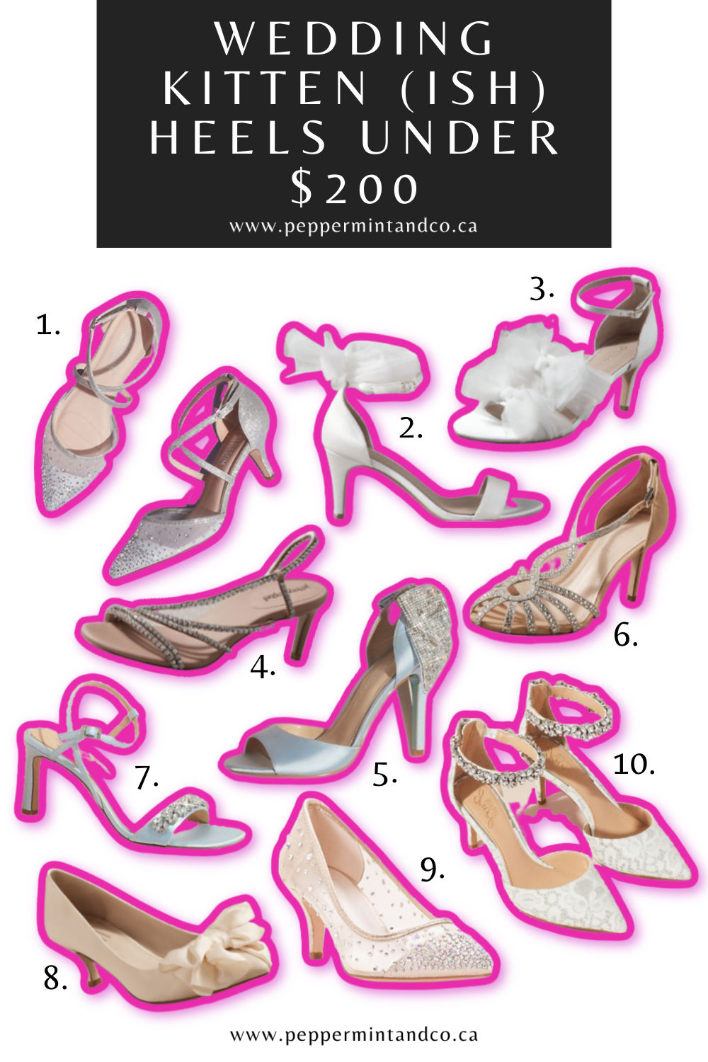 Wedding Kitten (ish) Heels Under $200