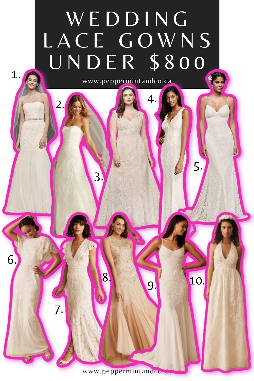 Wedding Lace Gowns Under $800. Part 1.