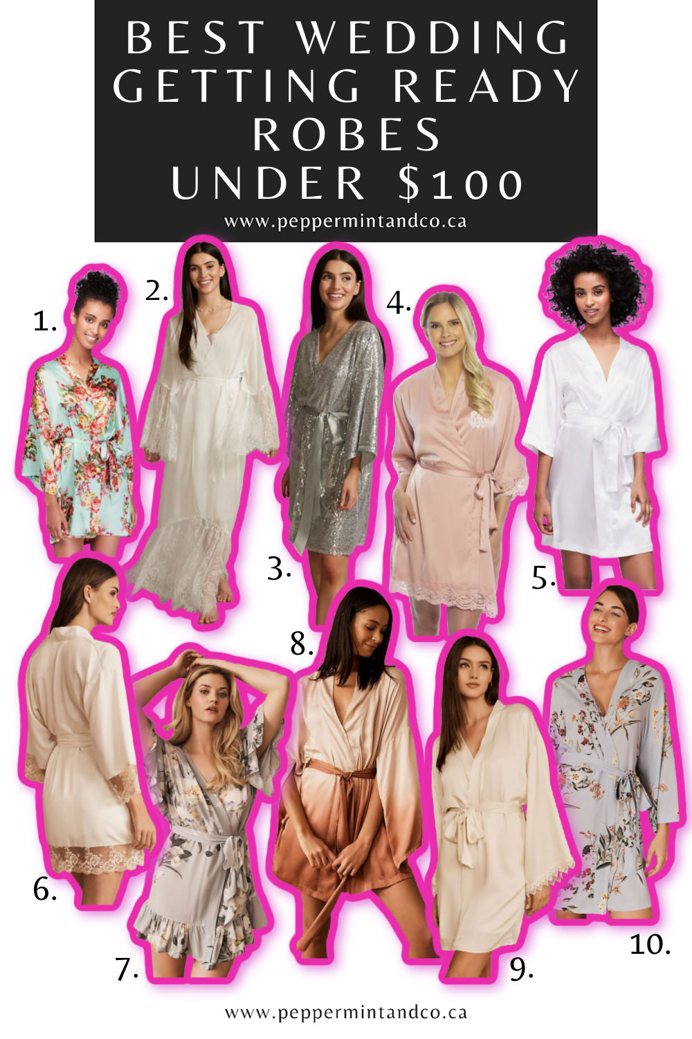 Wedding Getting Ready Robes Under $100. Part 1.