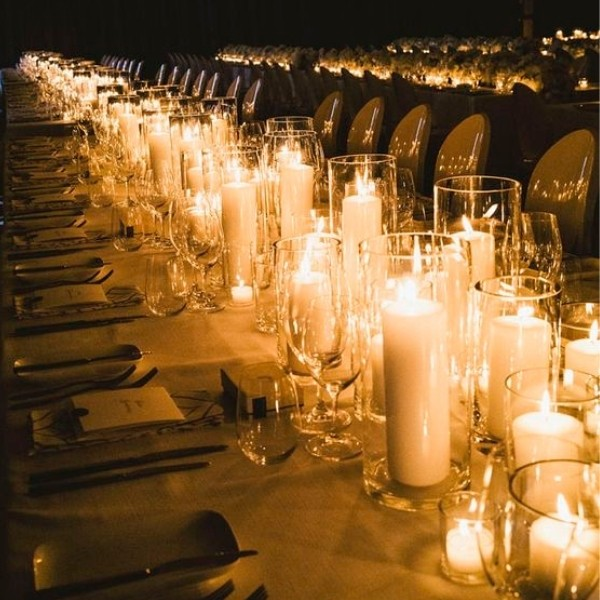 Easy & Affordable DIY Wedding Centerpiece - candles