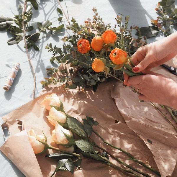 grocery flowers wedding bouquet