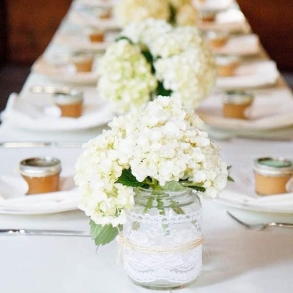 Easy & Affordable DIY Wedding Centerpiece - hydrangeas
