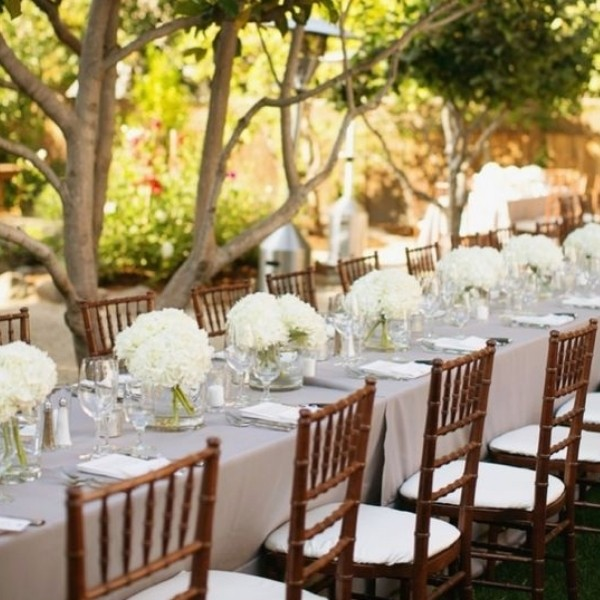 Easy & Affordable DIY Wedding Centerpiece - hydrangea bundles