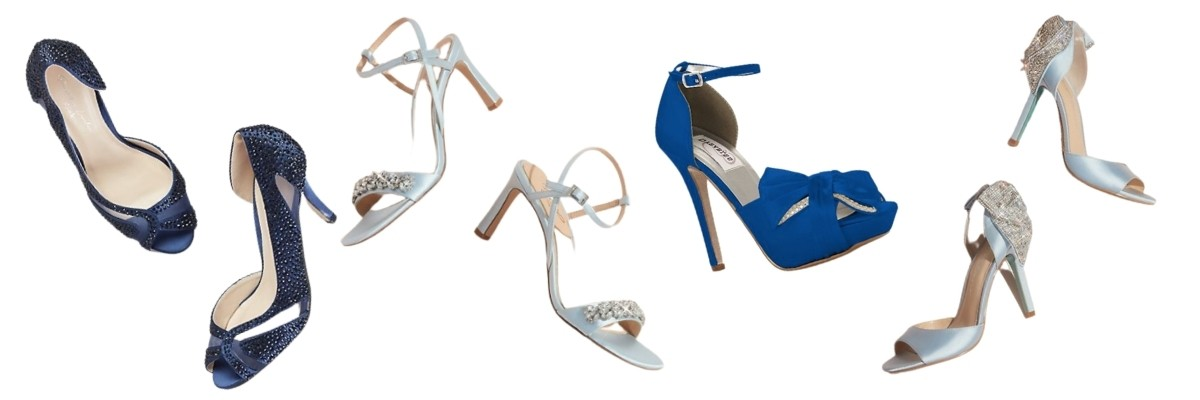 """""""Something Blue"""" Ideas For Your Wedding shoes"""