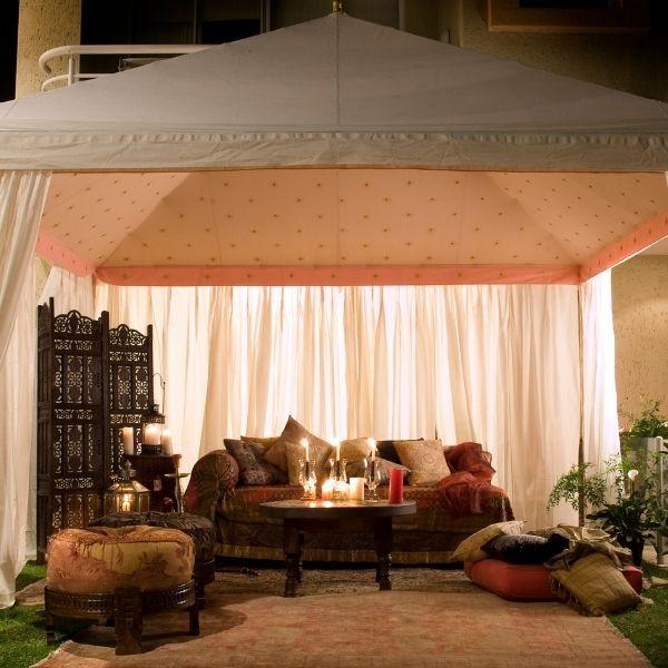 Tented Wedding Checklist - lounge area