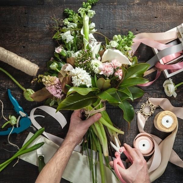 supplies to make a diy wedding bouquet