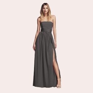 (10) Y-Neck Long Mesh Dress