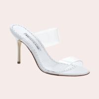 MANOLO BLAHNIK Scolto Clear Double Strap Sandal $695.00