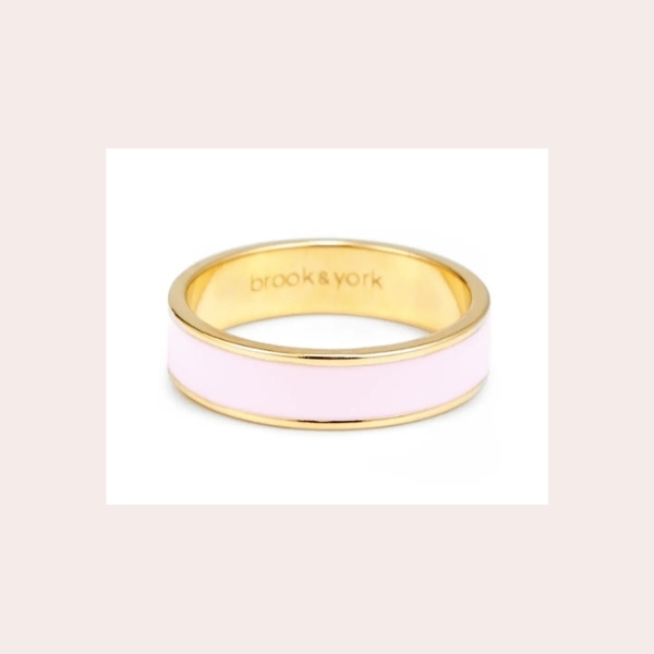BROOK AND YORK Madison Enamel Ring $38.00 | Glossy enamel fill a lustrous gold-plated band that brings a fresh pop of color to your ring game.