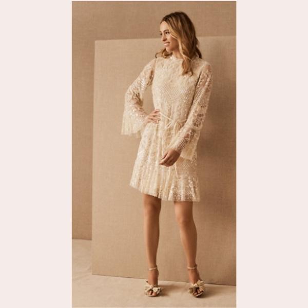 (6) Needle & Thread Snowdrop Mini Dress