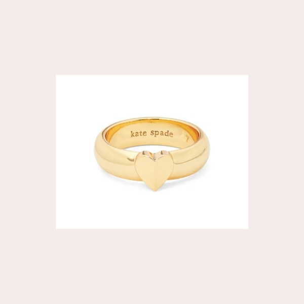 KATE SPADE NEW YORK heartful ring $58.00 | Polished to a brilliant golden shine, this everyday band makes a sweet statement with a heart centerpiece.