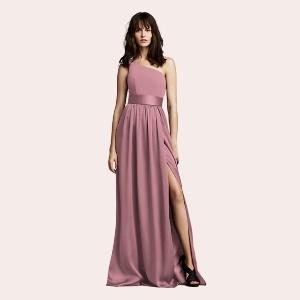 (6) Long Chiffon Dress with Low Crisscross Back