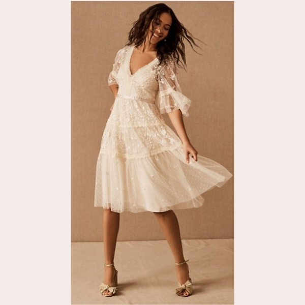 (9) Needle & Thread Lottie Lace Midi Dress