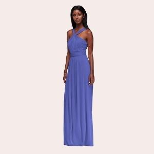 (9) Sequin Bodice Bridesmaid Dress with Chiffon Skirt