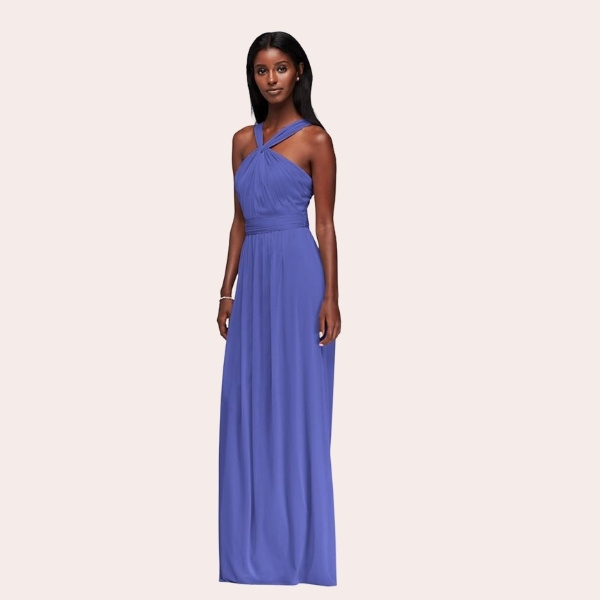 (9) Sequin Bodice Bridesmaid Dress with Chiffon Skirt | Subtly sophisticated, this White by Vera Wang bridesmaid dress features a sequin bodice, illusion back and a flowing, slit chiffon skirt.
