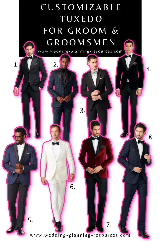 Groom + Groomsmen Tuxedos You'll Love