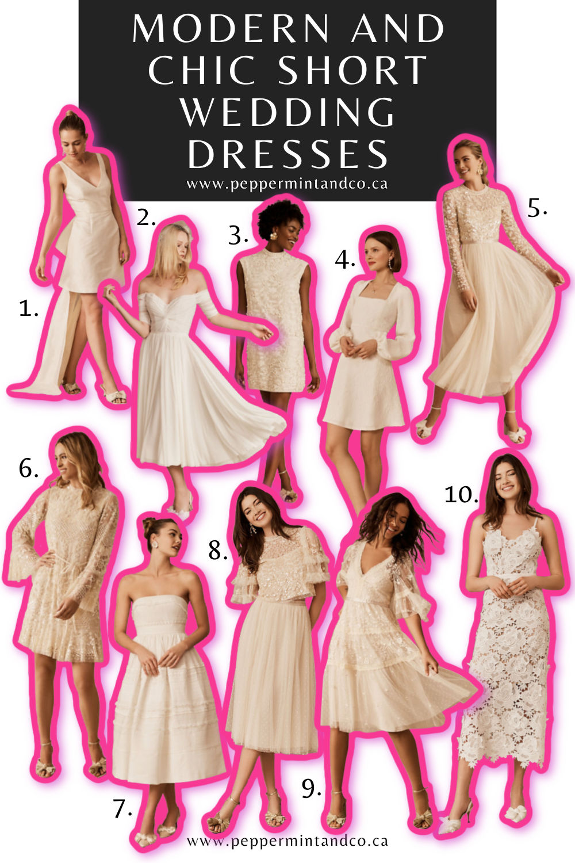 Modern and Chic Short Wedding Dresses