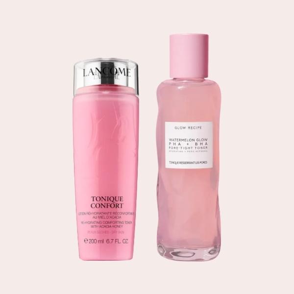 SPLURGE: Lancôme – Tonique Comfort Re-Hydrating Comforting Toner with Acacia Honey   Glow Recipe – Watermelon Glow PHA +BHA Pore-Tight Toner