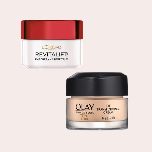 SAVE: L'Oreal Paris Anti-Wrinkle + Firming Eye Cream   Olay Total Effects Transforming Eye Cream