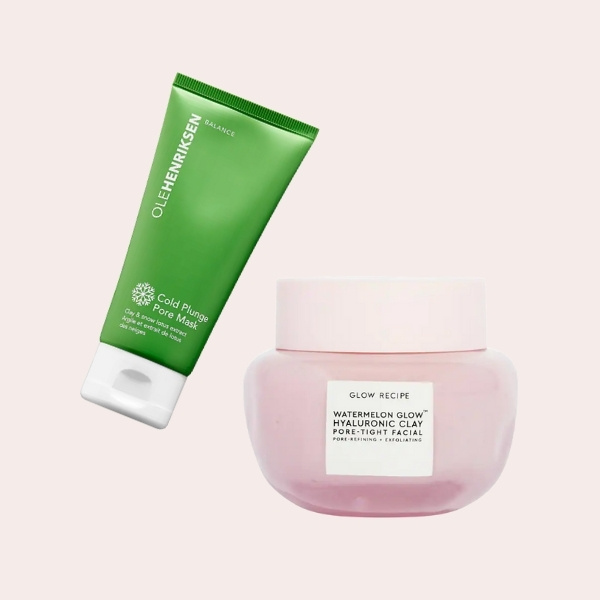 SPLURGE: OLEHENRIKSEN - Cold Plunge Pore Mask   Glow Recipe - Watermelon Glow Hyaluronic Clay Pore-Tight Facial Mask