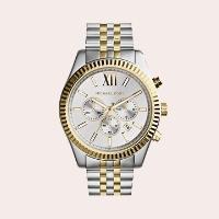 (2) Large Lexington Chronograph Bracelet Watch, 45mm
