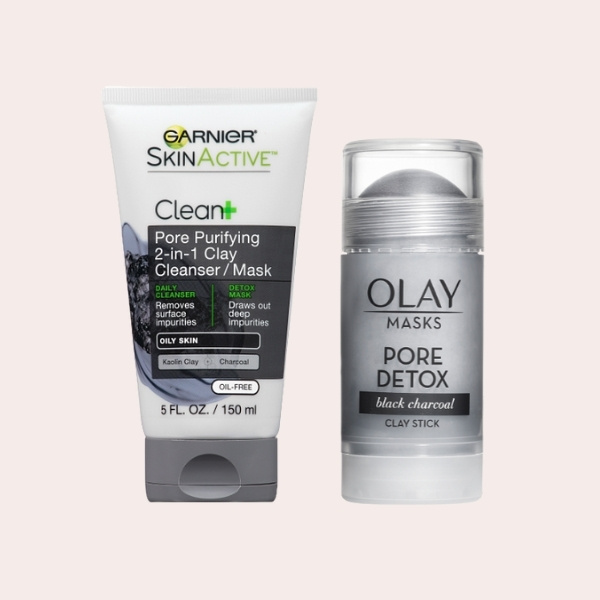 SAVE: Garnier SkinActive Clean+ Pore Purifying 2-in-1 Clay Cleanser   Olay Pore Detox Face Mask Clay Stick with Black Charcoal