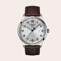 (4) Gent XL Classic Leather Strap Watch, 42mm