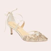 (5) Frances Embellished Kitten Heel Pump