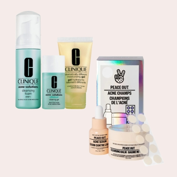 SPLURGE: CLINIQUE - Acne Solutions Clinical Clearing Kit   Peace OutSalicylic Acid Acne Healing Dots