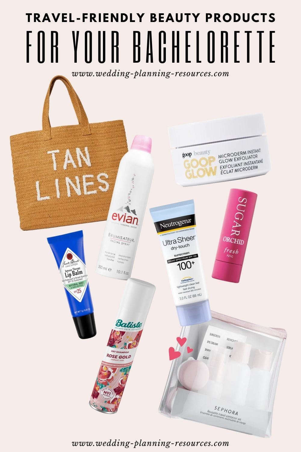 Travel-Friendly Beauty Products For Your Bachelorette
