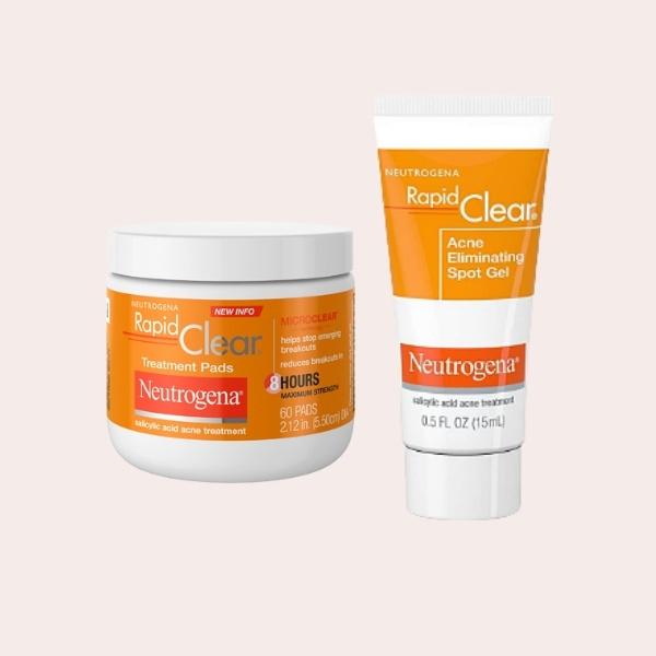 SAVE: Neutrogena Rapid Clear Maximum Strength Acne Treatment Pads   Neutrogena Rapid Clear Acne Eliminating Spot Treatment Gel