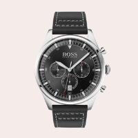 (9) Pioneer Chronograph Leather Strap Watch, 44mm