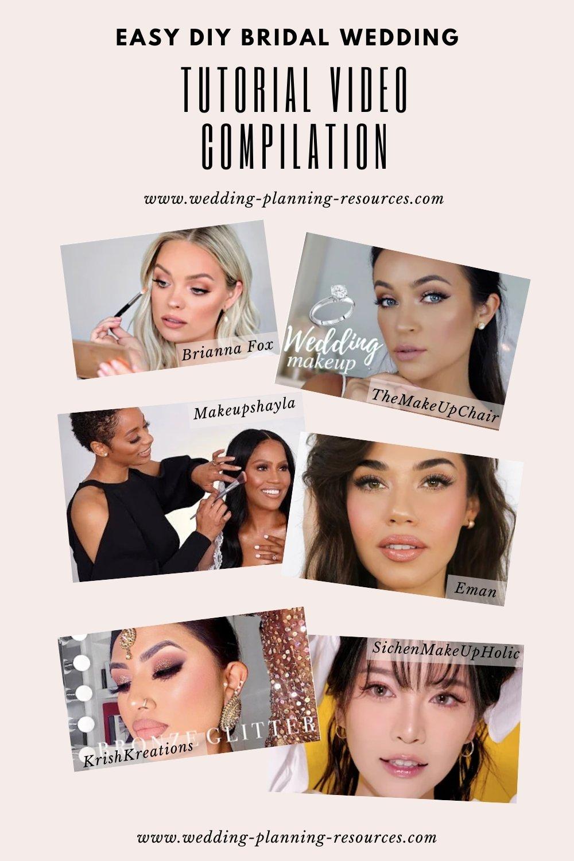 Easy DIY Bridal Wedding Makeup Videos