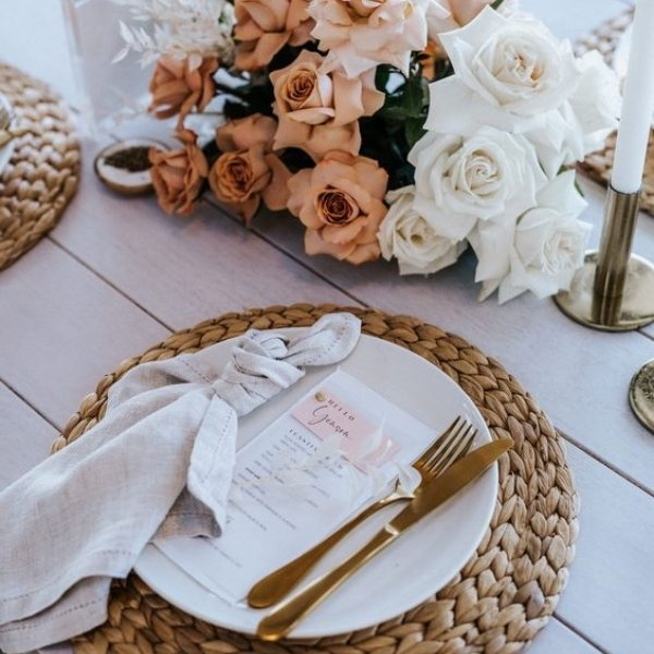 Easy Ways To Elevate Your Wedding Tablescape - gold cutlery