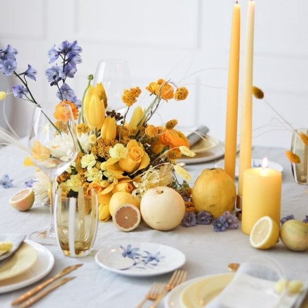 Easy Ways To Elevate Your Wedding Tablescape - add fruits