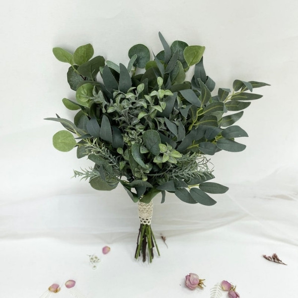 Affordable Wedding Bouquet Designs - preserved dried greenery