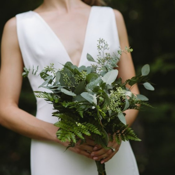 Affordable Wedding Bouquet Designs - greenery only
