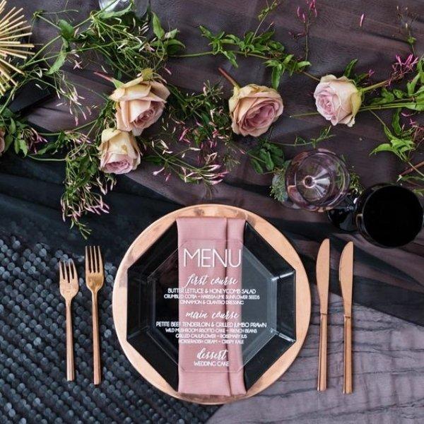 Easy Ways To Elevate Your Wedding Tablescape - acrylic menu