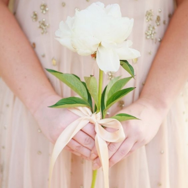 Affordable Wedding Bouquet Designs - Single bloom only