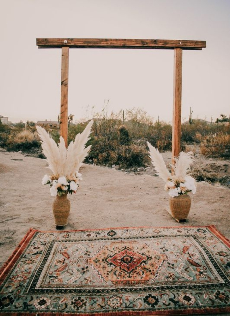 DIY Wedding Ceremony Arch- boho love