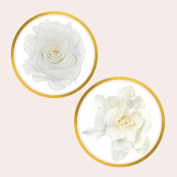 Affordable Alternatives For Pricy Flowers - preserved rose and gardenia